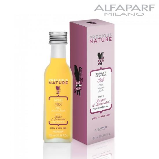 AlfaParf Precious Nature eļļa vīnoga un lavanda cirtainiem matiem 100ml