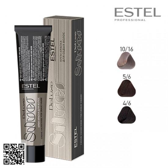 Estel DeLuxe Silver 4/6 krāsa-kopšana matiem 60ml