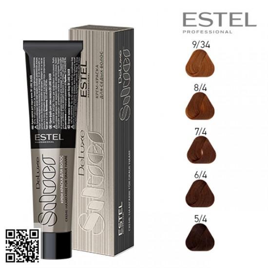 Estel DeLuxe Silver 6/4 krāsa-kopšana matiem 60ml