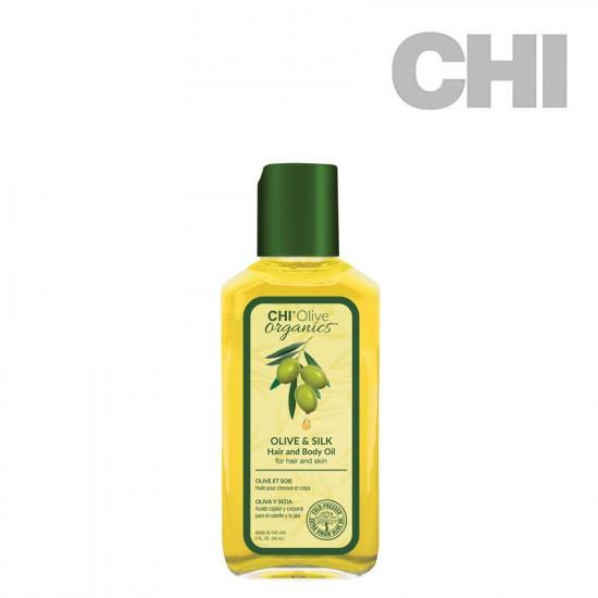 CHI Olive Organics Olive & Silk Hair and Body Oil eļļa 59ml
