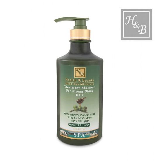 Health&Beauty šampūns sausiem matiem ar olīveļļu un medu 780ml