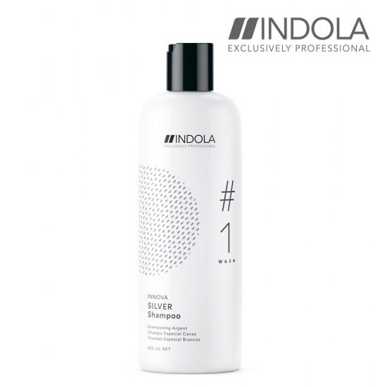 Indola Innova Silver sudraba šampūns 300ml