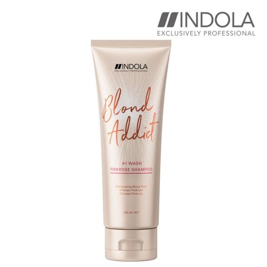 Indola Blond Addict Pinkrose šampūns 250ml