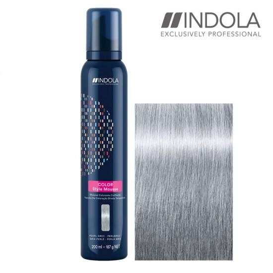 Indola Color Style Mousse Pearl Grey tonejošas matu putas 200ml