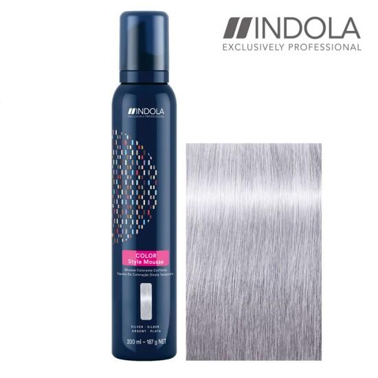 Indola Color Style Mousse Silver tonejošas matu putas 200ml