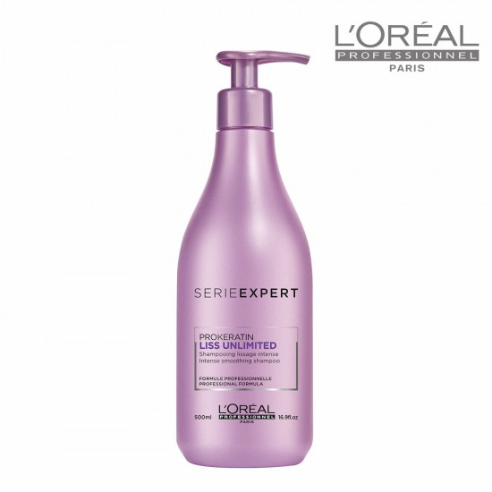 Loreal Serie Expert Liss Unlimited matu nogludinošs šampūns 500ml