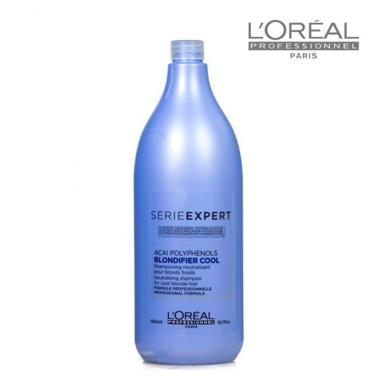 Loreal Serie Expert Blondifier Cool šampūns vēsi blondiem matiem 1,5L