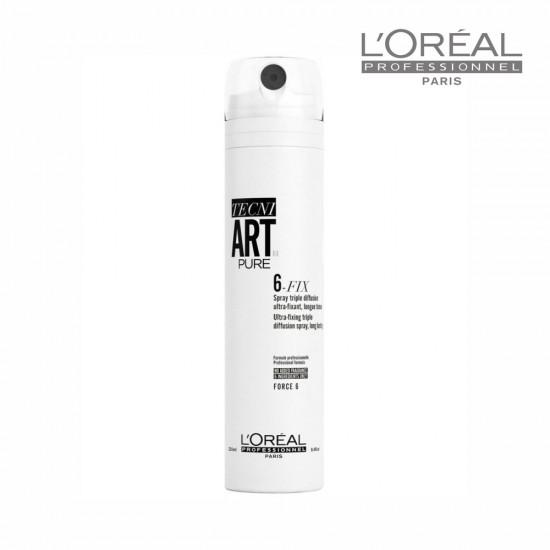 Loreal Tecni Art Pure 6-Fix īpaši spēcīgi fiksējošs sprejs 250ml