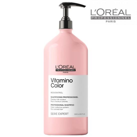 Loreal Serie Expert Vitamino Color šampūns krāsotiem matiem 1,5L
