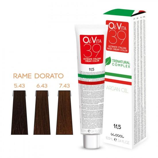 OiVita39 Hair Cream Color 7.43 100ml