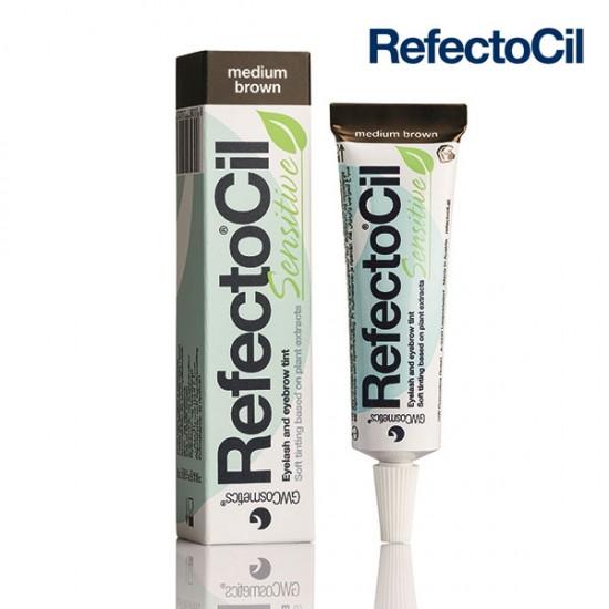 RefectoCil Sensitive Medium Brown vidēji brūna krāsa skropstām un uzacīm 15ml