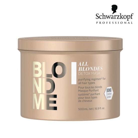 Schwarzkopf Pro BlondMe All Blondes Detox attīroša maska blondiem matiem 500ml