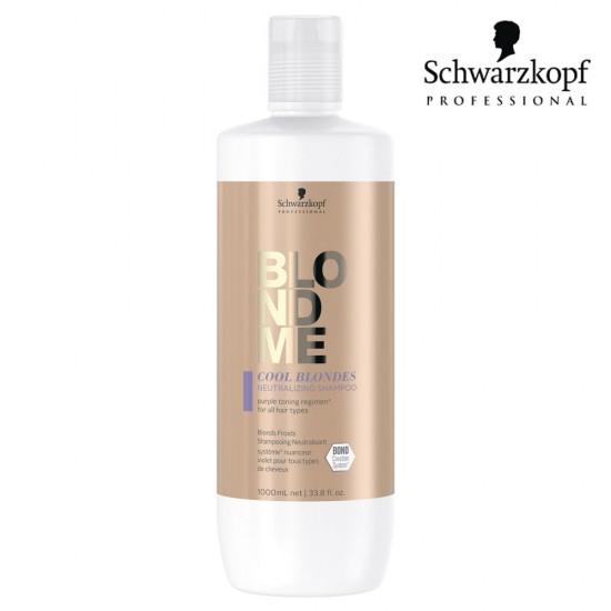 Schwarzkopf Pro BlondMe Cool Blondes neitralizējošs šampūns vēsi blondiem matiem 1L