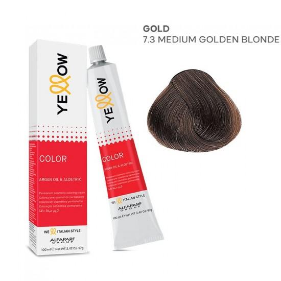 Yellow Color permanentā matu krēmkrāsa 100ml Nr.7.3